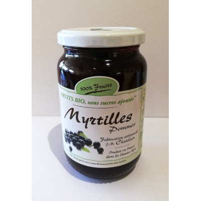 100% Fruits BIO Myrtilles 360g