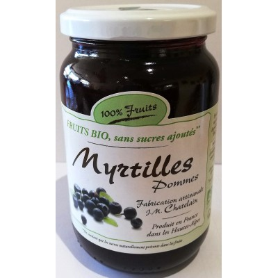 100% Fruits BIO Myrtilles 360g x6