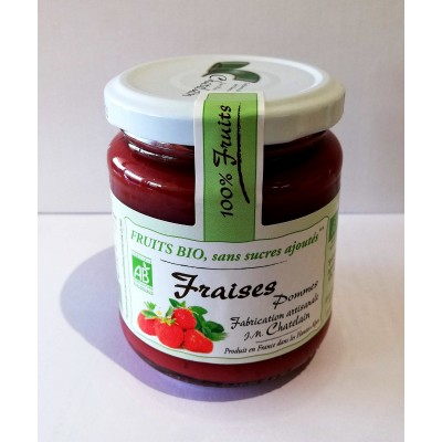 100% Fruits BIO Fraises 200g
